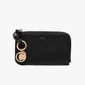 Chloé 'Alphabet' Leather Zip-Around Wallet, Black